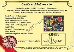 Certificat d'authentification